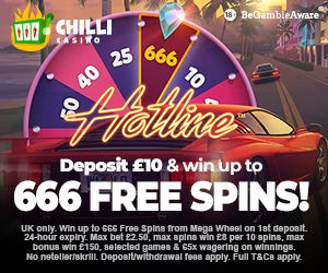 Latest bonus from Chilli Casino